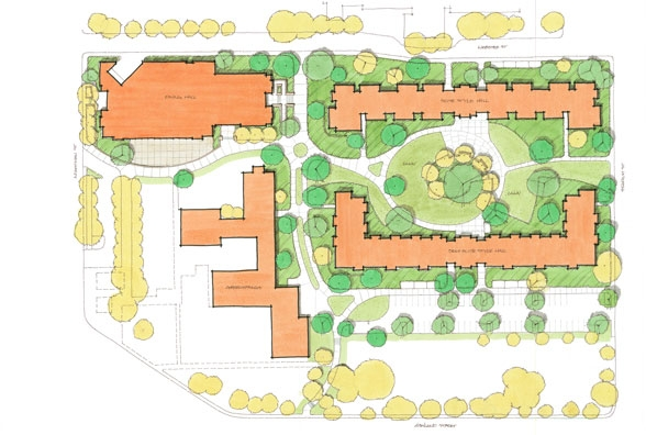 Sou North Campus Village Covey Pardee Landscape Architects